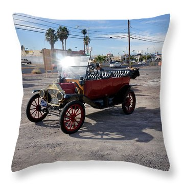 Red Roadster Throw Pillow