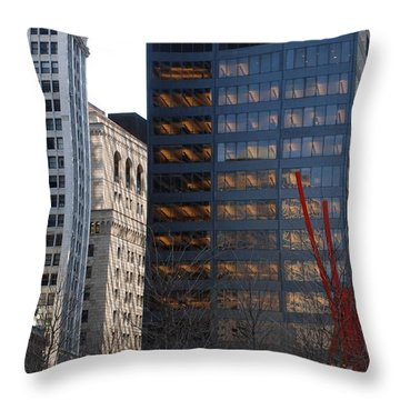 RED Throw Pillow by Rob Hans