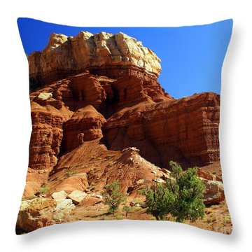 Red Rock 4 Throw Pillow by Marty Koch