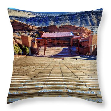 Red Rock Amphitheater Throw Pillow by Barry Jones