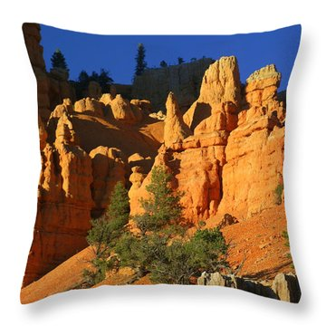 Red Rock Canoyon At Sunset Throw Pillow by Marty Koch