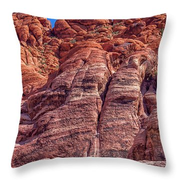 Red Rock Canyon National Conservation Area Throw Pillow