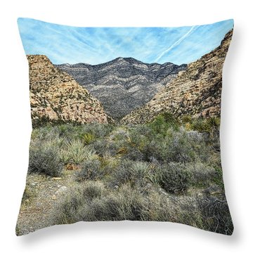 Throw Pillow featuring the photograph Red Rock Canyon - Nevada by Glenn McCarthy Art and Photography