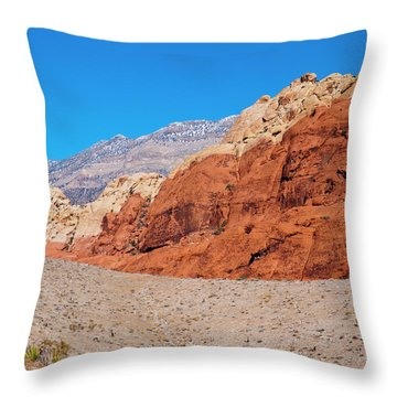 Red Rock Canyon Throw Pillow by Rae Tucker