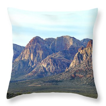 Throw Pillow featuring the photograph Red Rock Canyon - Scale by Glenn McCarthy Art and Photography