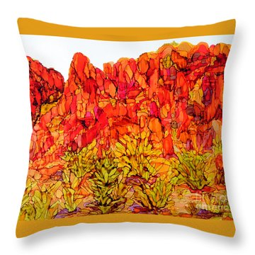 Red Rock Canyon Veiw From The Loop Throw Pillow by Vicki  Housel