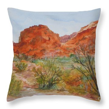 Red Rock Canyon Throw Pillow by Vicki  Housel