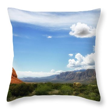 Red Rock Canyon Vintage Style Sweeping Vista Throw Pillow