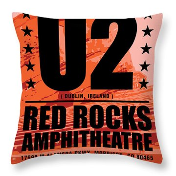 Red Rock Concert Throw Pillow by Gary Grayson