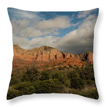 Throw Pillow featuring the photograph Red Rock Country Sedona Arizona 3 by David Haskett