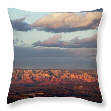 Red Rock Crossing, Sedona Throw Pillow by Ron Chilston
