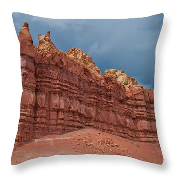 Red Rock Formation Throw Pillow by Alan Toepfer