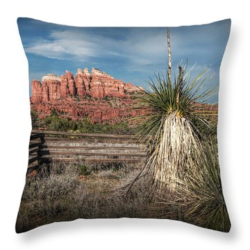 Throw Pillow featuring the photograph Red Rock Formation In Sedona Arizona by Randall Nyhof