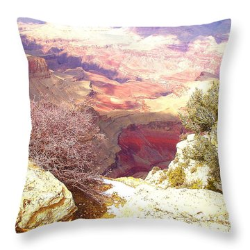 Red Rock Throw Pillow by Marna Edwards Flavell