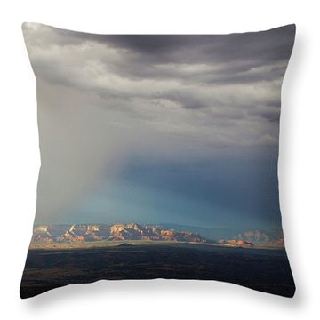 Throw Pillow featuring the photograph Red Rock Monsoon by Ron Chilston