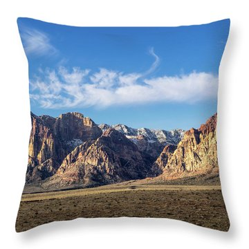 Red Rock Morning Throw Pillow