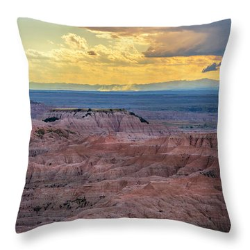Red Rock Pinnacles Throw Pillow