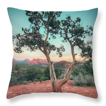Red Rock State Park Throw Pillow