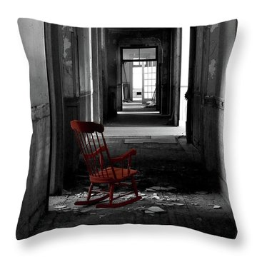 Red Rocker - Preston Castle Throw Pillow