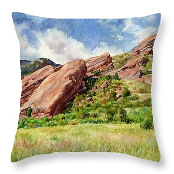 Red Rocks Amphitheatre Throw Pillow
