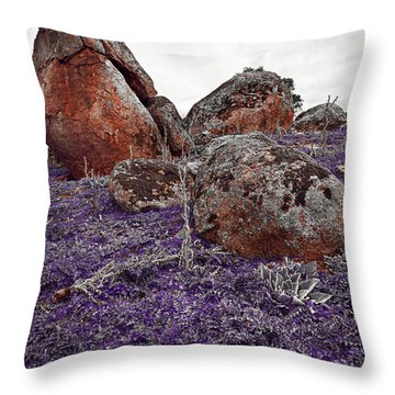 Red Rocks And Thunder Throw Pillow