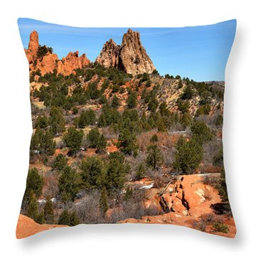 Throw Pillow featuring the photograph Red Rocks At High Point by Adam Jewell