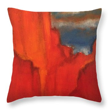 Throw Pillow featuring the painting Red Rocks by Kim Nelson