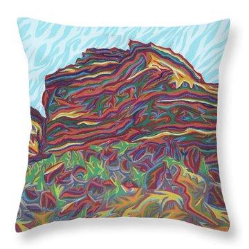 Red Rocks Throw Pillow by Robert SORENSEN