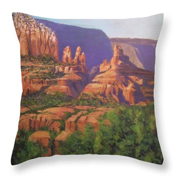 Red Rocks Sedona Throw Pillow