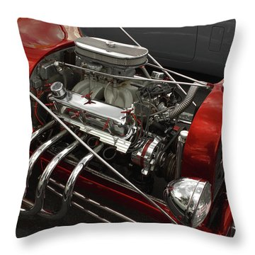 Red Rod Throw Pillow