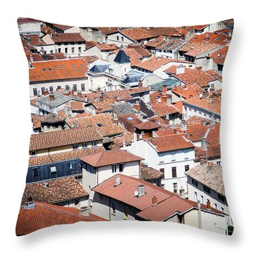 Throw Pillow featuring the photograph Red Roof by Jason Smith