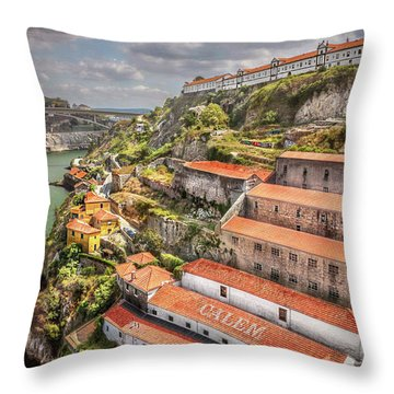 Red Roofs Of Porto Throw Pillow