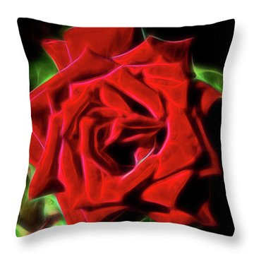 Red Rose 1a Throw Pillow