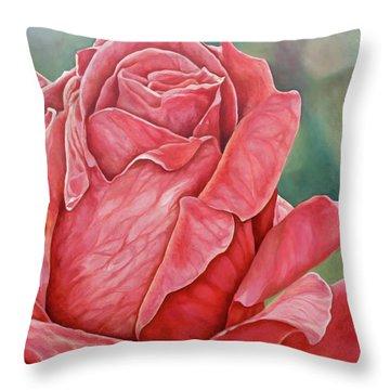 Red Rose 93 Throw Pillow