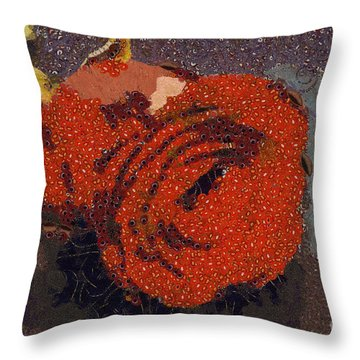 Red Rose Abstract Throw Pillow by Shirley Stalter