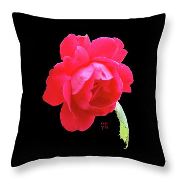 Red Rose Cutout Throw Pillow