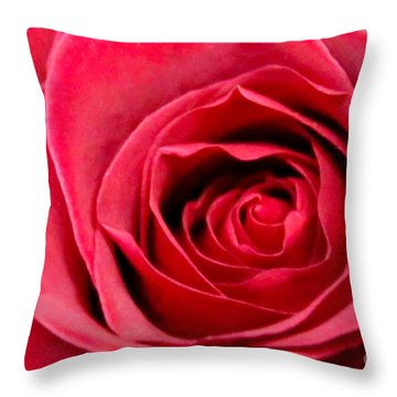 Throw Pillow featuring the photograph Red Rose by DJ Florek