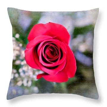 Red Rose Elegance Throw Pillow
