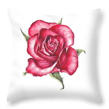 Red Rose Throw Pillow by Heidi Kriel
