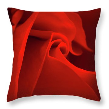 Red Rose Macro Throw Pillow