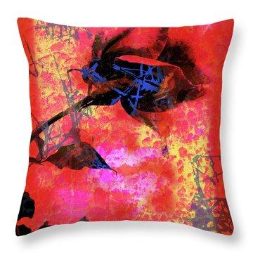 Red Rose Throw Pillow by Robert Ball