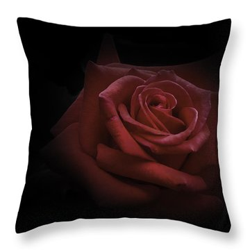 Throw Pillow featuring the photograph Red Rose by Ryan Photography