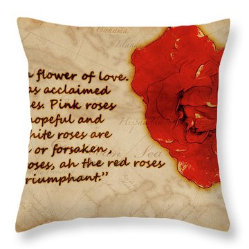 Red Rose Significance Throw Pillow
