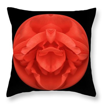 Red Rose Sphere Throw Pillow