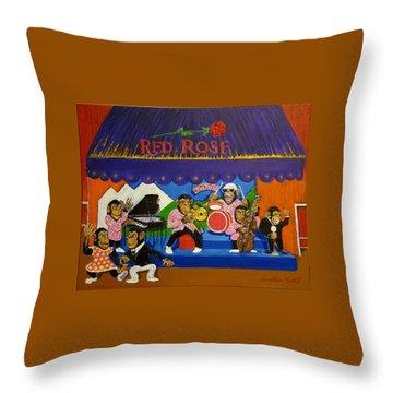 Red Rose Tea Chimpanzees Throw Pillow