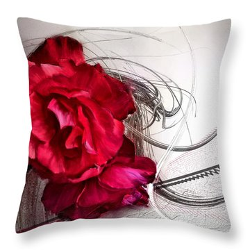 Red Roses Throw Pillow by Susan Kinney