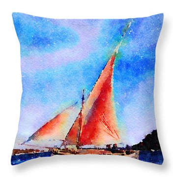 Red Sails Delight Throw Pillow