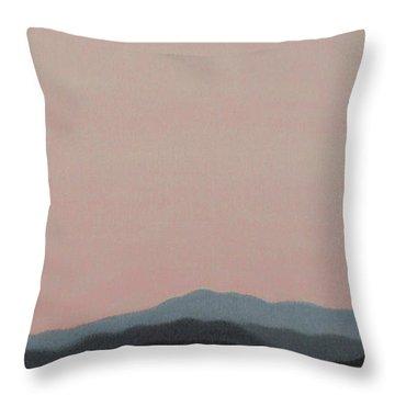 Red San Jacintos Throw Pillow by Stan  Magnan