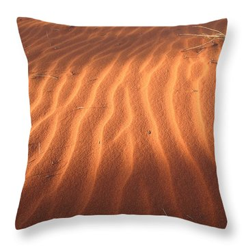 Throw Pillow featuring the photograph Red Sand Dune Ripples In Detail by Keiran Lusk