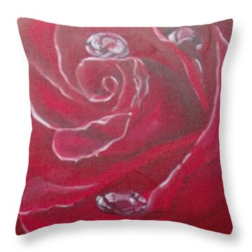 Throw Pillow featuring the painting Red by Saundra Johnson